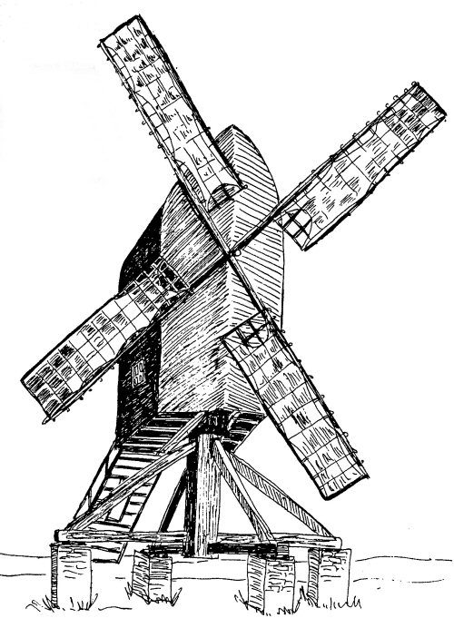 Picture: illustration of an old mill in Colton
